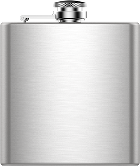 Custom Engraved Map Hip Flask JACE Design