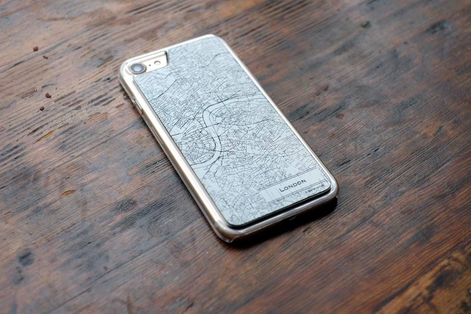 Custom Map Case - Laser engraved and printed maps on variety of phone case styles, custom made, world map, map cases