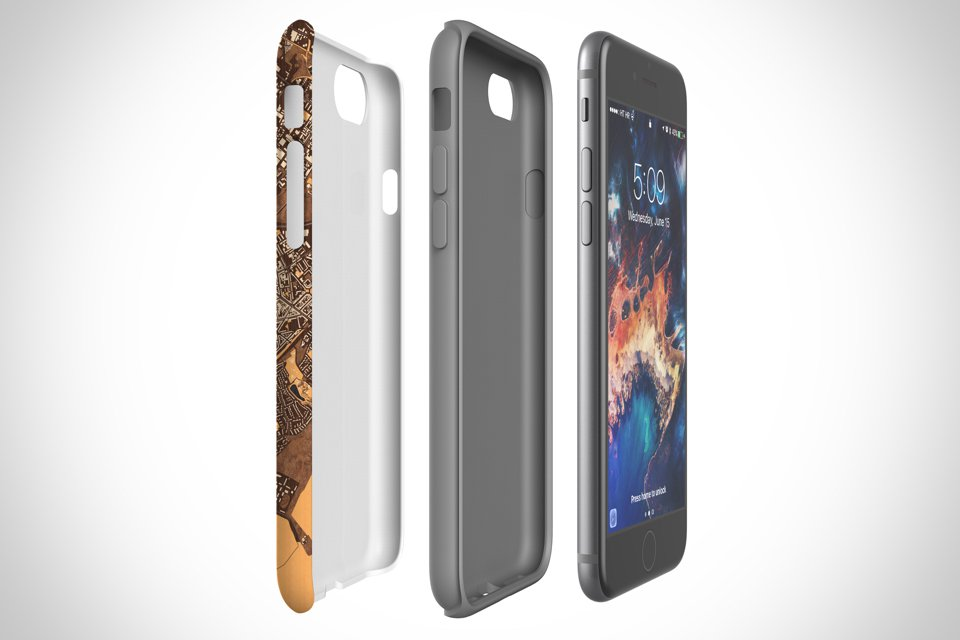 Tough case has dual layer protection with impact polycarbonate resistant shell and TPU liner