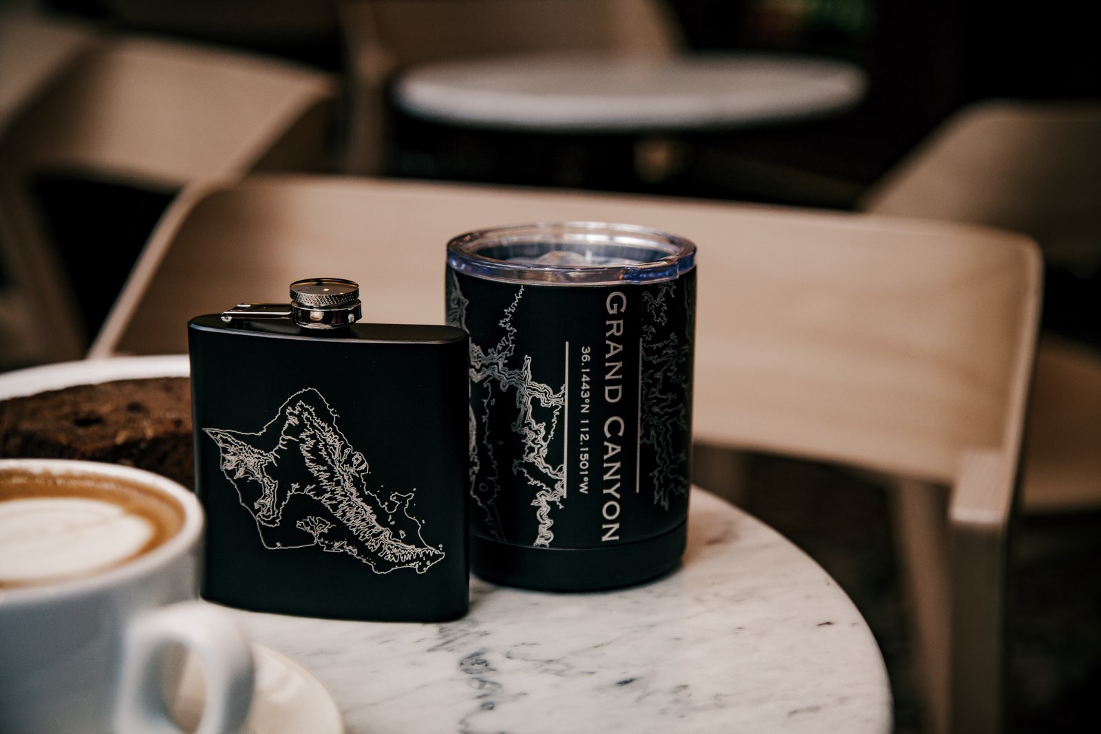 10 oz Cup Midnight Edition and 6 oz Hip Flask