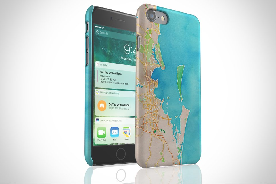 Map Cases - The Snap Case makes it easy to slide your phone into a pocket or clutch. Its slim form factor and lightweight design give it a modern look.